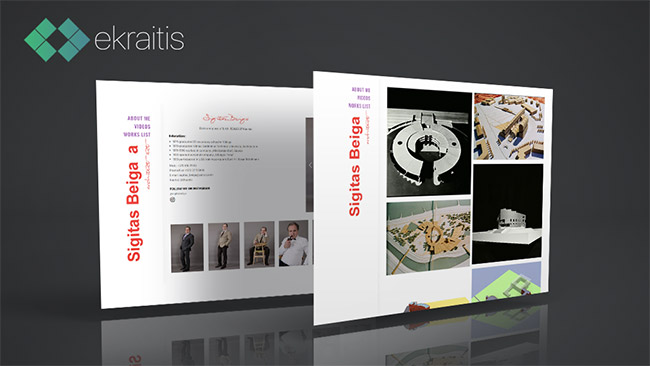 Sigito Beigos Internetinės svetainės prezentacija